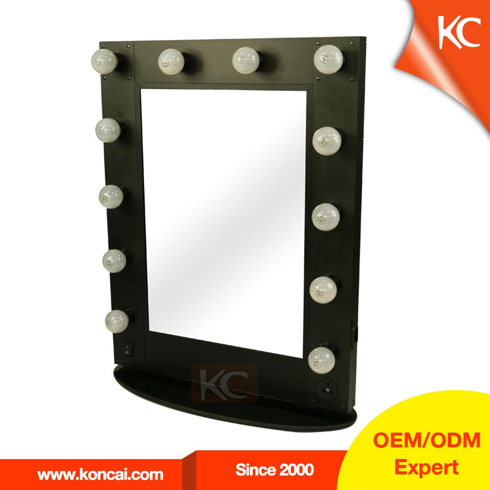 Hollywood style miroir avec led lumi res professionnel maquillage clair e miroir miroir de - Coiffeuse avec lumiere ...