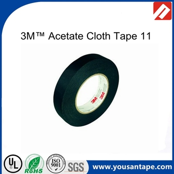 3m 11 Acetate Cloth Electrical Tape Black For Wire Harness,Coil-wrapping/  Ul - Buy 3m 11 Acetate Cloth Electrical Tape,Acetate Cloth Tape For Wire