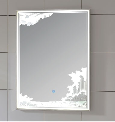 Hot-selling  Fancy Smart Digital Light Up Bathroom Mirrors