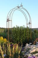 new style garden arches, metal arbours, wrought iron pergolas