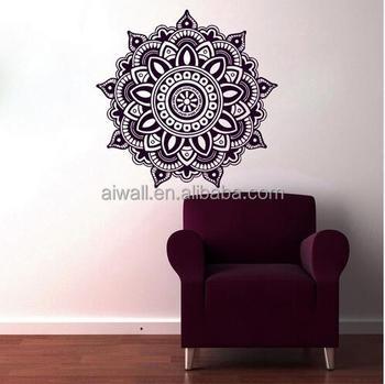 K1 Mandala Wall Decal Vinyl Sticker Menhdi Decor Om Indian Hindu Buddha Islamic Mural Arabic
