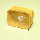 Candy color Nylon & PVC promotional gifts Travel Makeup Cosmetic Bag makeup pouch clear beauty bag