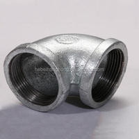 Malleable Ductile Cast / Casting Black / Galvanized Iron Pipe Fitting 45 elbows