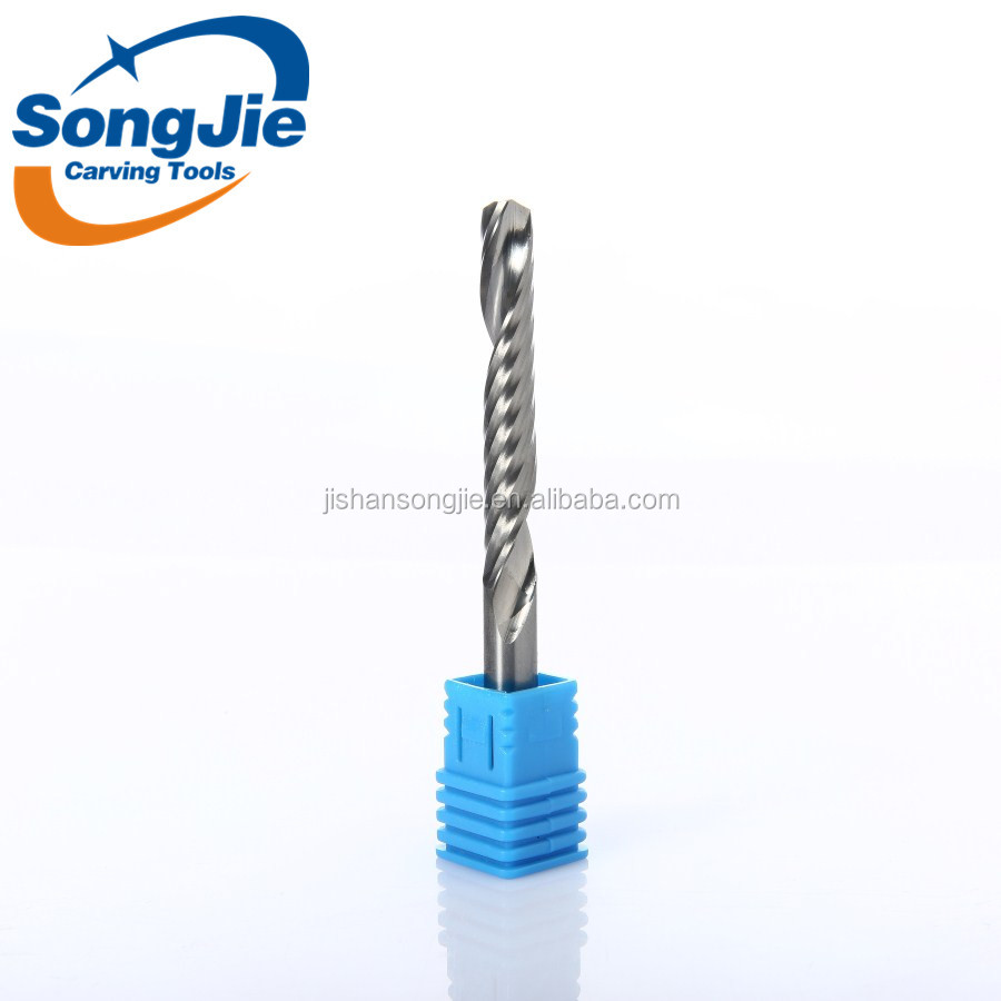 A series Single Flute Solid Carbide End Mills one flute Spiral End Mill Cutter CNC Bits for Wood Acrylic Cutting