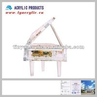 2012 best seller acrylic piano shelf