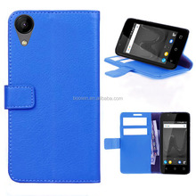 blue for leather wiko sunny 2 case wallet leather high quality factory price