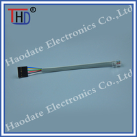 RJ cable assembly with 2.54 connector
