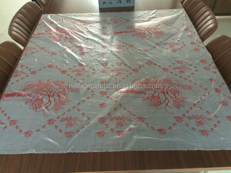 professional supply recyclable plastic table cover rolls for dinning