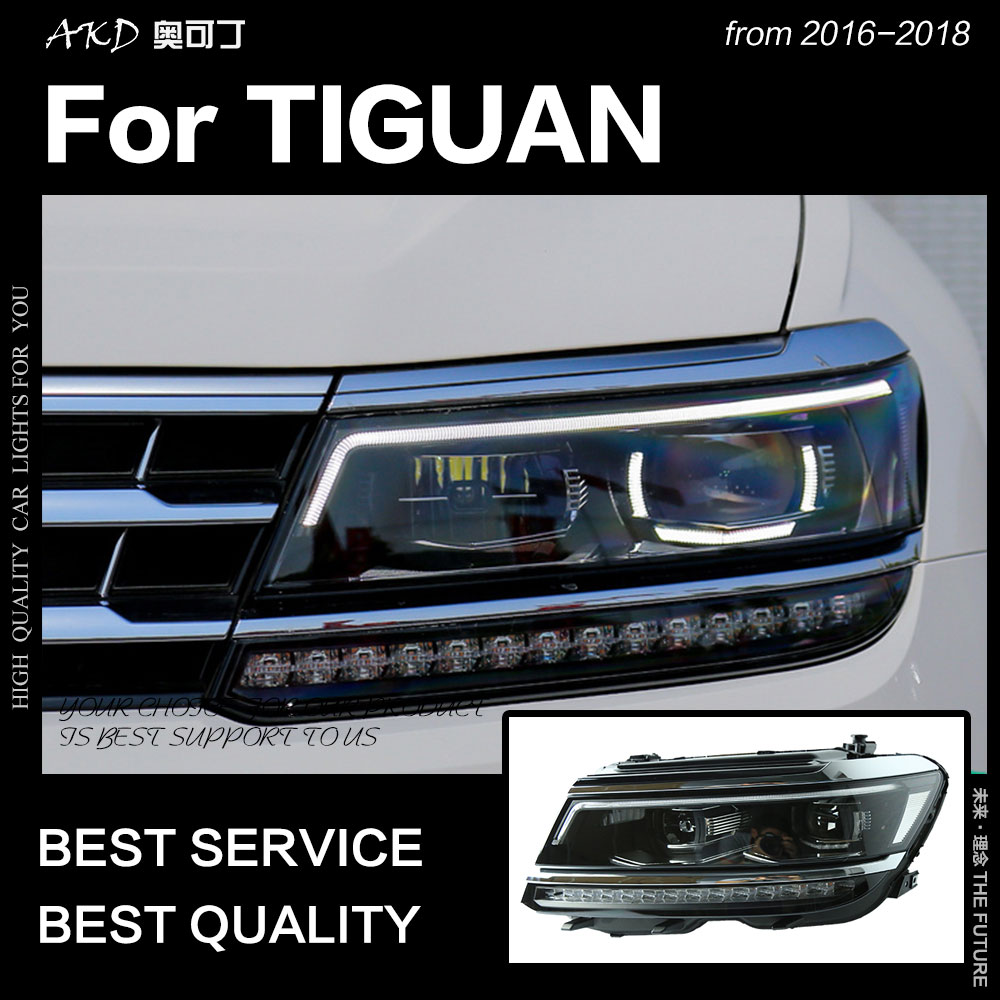 2018 tiguan headlights