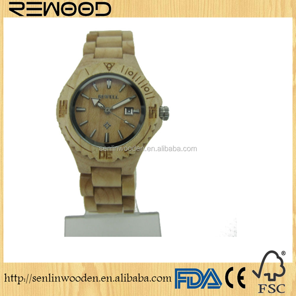 New design customized wood watches, fashion wooden watches women style on stock