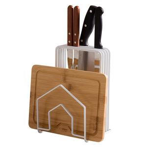Metal Kitchen Counter Storage Knife Holder Chopping Board Holder
