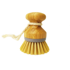 kitchen cleaning bamboo naturals round head dish washing brushes scrub brush with handle