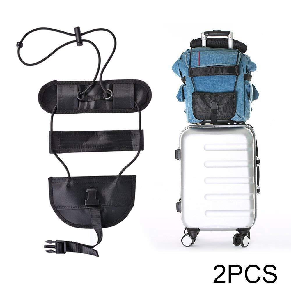 Z/&L Adjustable Travel Suitcase Belt Travel Bag Accessories black-1pack Bag Bungee,Luggage Bungee Strap Add a Bag