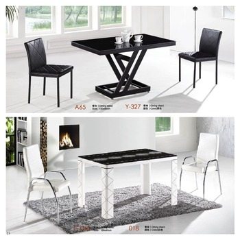 modern simple glass top dining table extendable factory sell