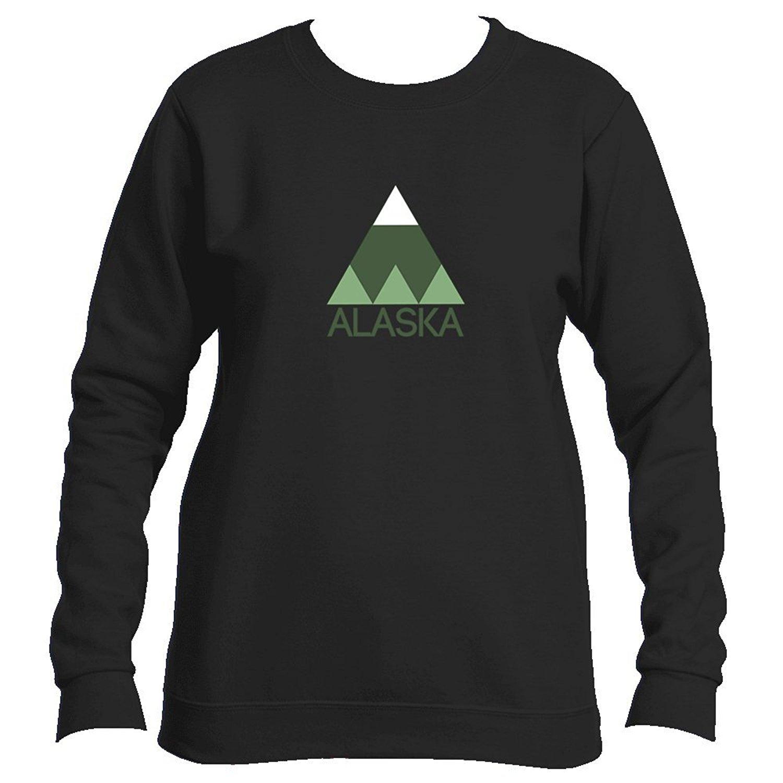 Tenn Street Goods Alaska Minimal Mountain - Alaska Women's Fleece Crewneck Sweatshirt