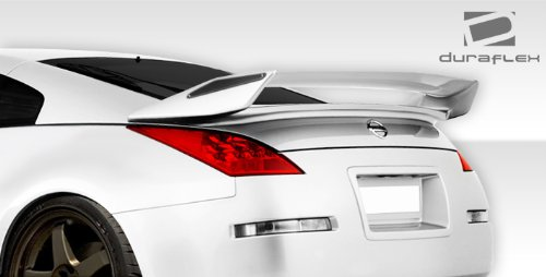 Get Quotations · 2003 2008 Nissan 350Z 2DR Coupe Duraflex N 2 Rear Wing  Trunk Lid Spoiler