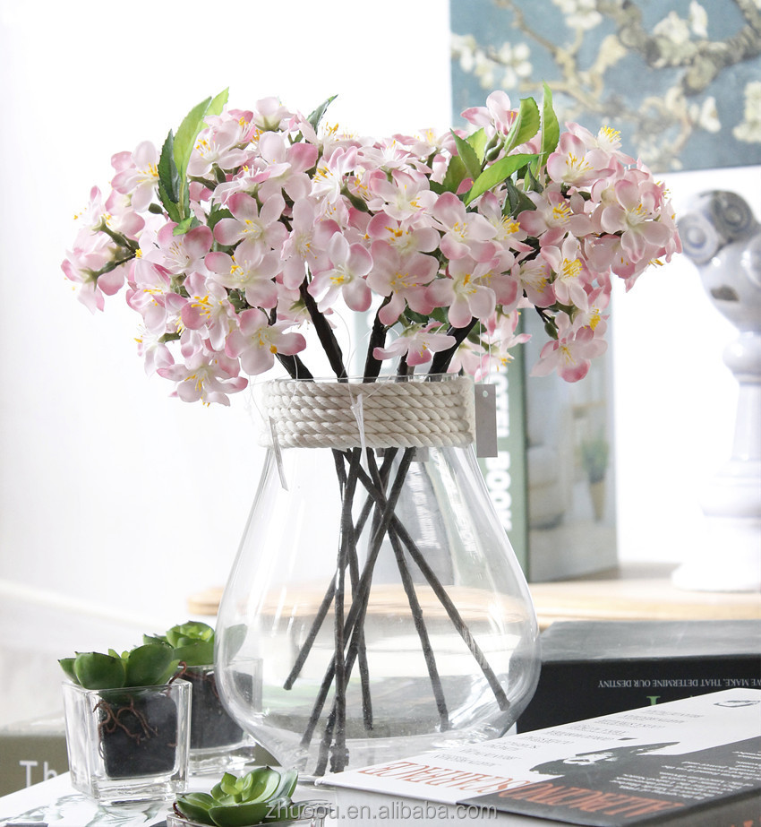 Hot Sale Cherry Blossom Branches Wholesale Artificial Sakura Flower Japanese Silk Flowers for Wedding Decoration
