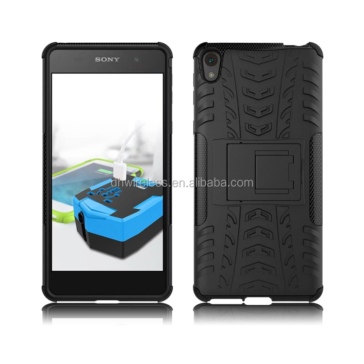 square stand case for sony Xperia E5,tyre lines cover for sony E5
