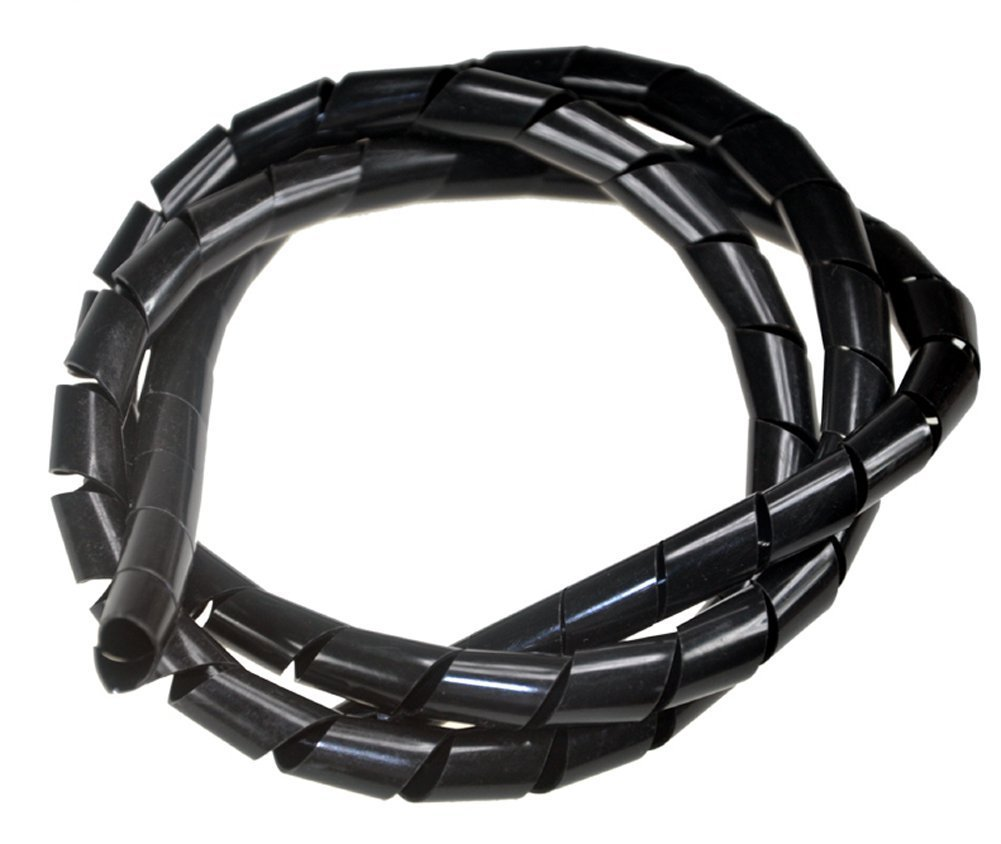 12mm2M Meta-Cable Spiral Cable Wire Wrap Binding (Black)