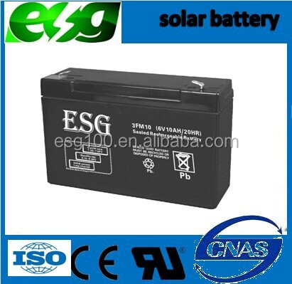high quality deep cycle 6V10AH Lead Acid Battery for UPS