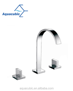 Wash Face Brass Basin Faucet, 3 Hole Widespread Dual Handle Faucet (AF8389-6)