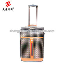 hebei cheap polo classic suitcase leather wheeled luggage