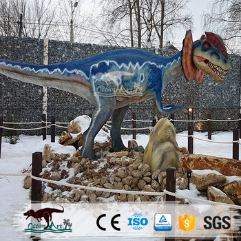 OAJ 8557 High Quality Life Size Animatronic Dinosaur Park Statues for Sale