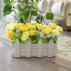 Cheap yellow fake flowers find yellow fake flowers deals on line at get quotations artificial flowers 16cm plastic fence simulation flower living room home furnishings a balcony set fake flowers mightylinksfo