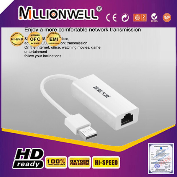 New RoHS usb 2.0 10/100m ethernet network adapter drivers