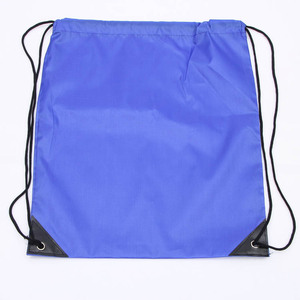 High quality best price heavy duty 210d polyester drawstring back pack bag with logo