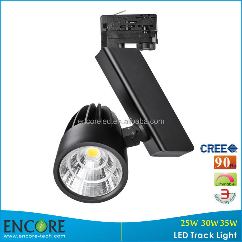 30W LED Track Light CE for Europ Market/ High Quality Dimmable 30W LED Track Lighting LED with 3 Years Warranty