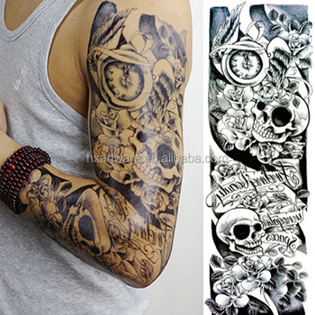 Mens Full Sleeve Arm Tattoo Stickers Temporary Long Lasting Different Patterns Buy Temporary Tattoo Stickerfull Arm Tattoo Stickertattoo Sleeve