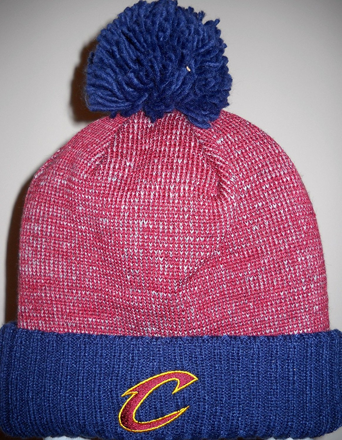 c279b42176d Get Quotations · Cleveland Cavaliers Adult Wine and Blue Knit Cap Hat  Toboggan with Embroidered C Logo on Ribbed