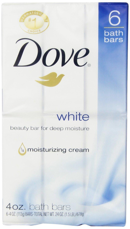 Dove White Beauty Bar, 4oz. Case of 12, 6 counts ( 72 bars)