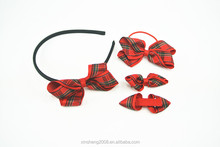 beautiful grid bow hair tie hair accessories