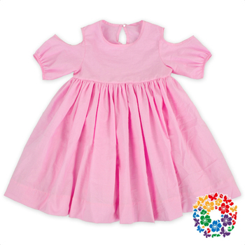 7192ae63 Summer Pink Baby Dresses Children Print Cotton Frock Design For Baby Girl