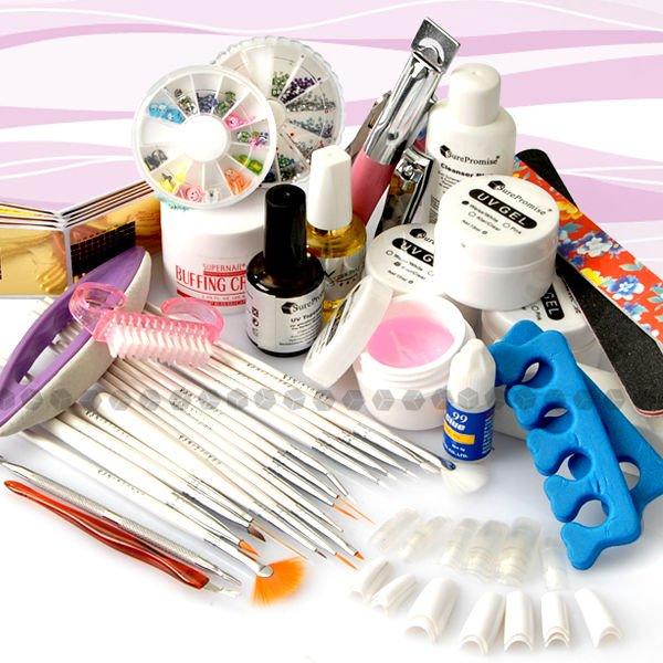 Nail Art Manicure Uv Gel Tool Kit Super Big Set W Bag Buy