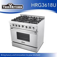 Hyxion 36'' Kitchen Appliance 6 Burner Gas Ranges