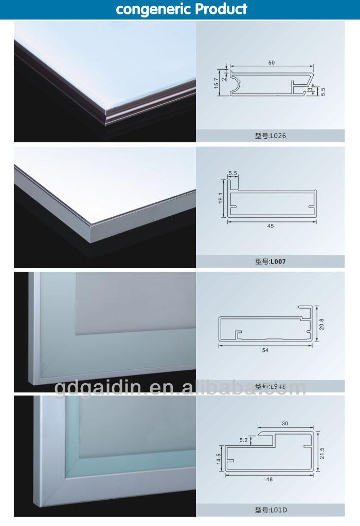 Italian Cabinet Hardware Kitchen Aluminum Frame Gl Door Profile For