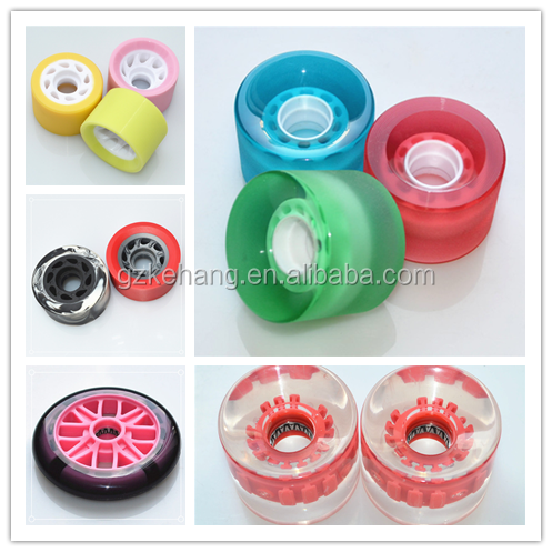 Urethane Luxury PU Beautiful Soft Skateboard Wheels 60mm