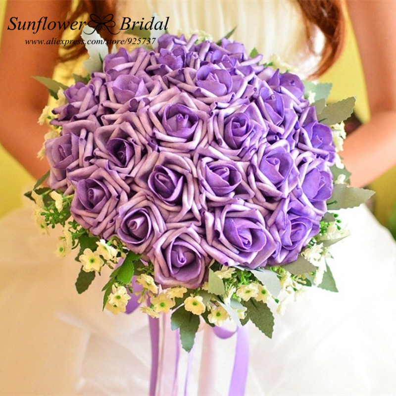 Wedding Flowers Cheap Online: Best Selling Romantic Silk Artificial Wedding Bouquets