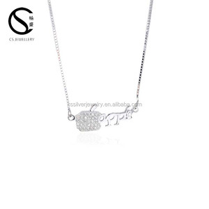 Hot Sale White Zircon Beautiful 925 Apple Necklace