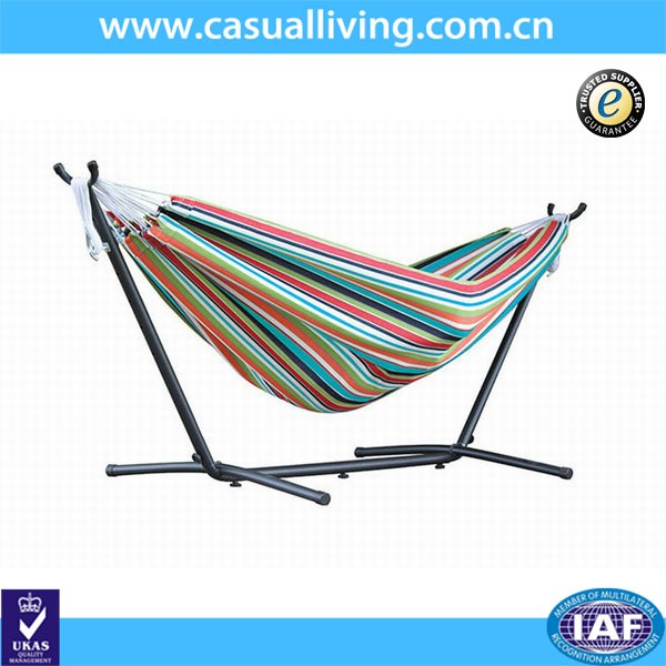 Wooden Curved Arc Hammock Stand With Cotton Hammock Outdoor Modern ...