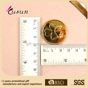 Plastic custom made gold coin