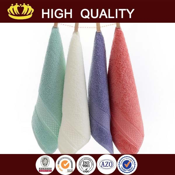 luxury cotton towel 4 pcs gift seting baoding with CE certificate