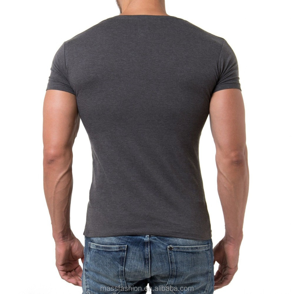 Wholesale deep v neck t shirt fashion design t shirt for for Cheap no minimum custom shirts