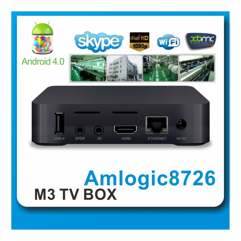Factory supply !! tv input box android Single Core Android HDMI TV Box with SD Card Slot