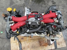 USED JDM 4WD RED Engine Motor for EJ207 Impreza WRX Rev7 GDB GDA Sti Turbo EJ20 V7