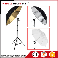 Professional Umbrella Reflector Soft Light Box Photo Studio Light Stand Tripod Flash Bracket Mount Black Reflective Umbrella