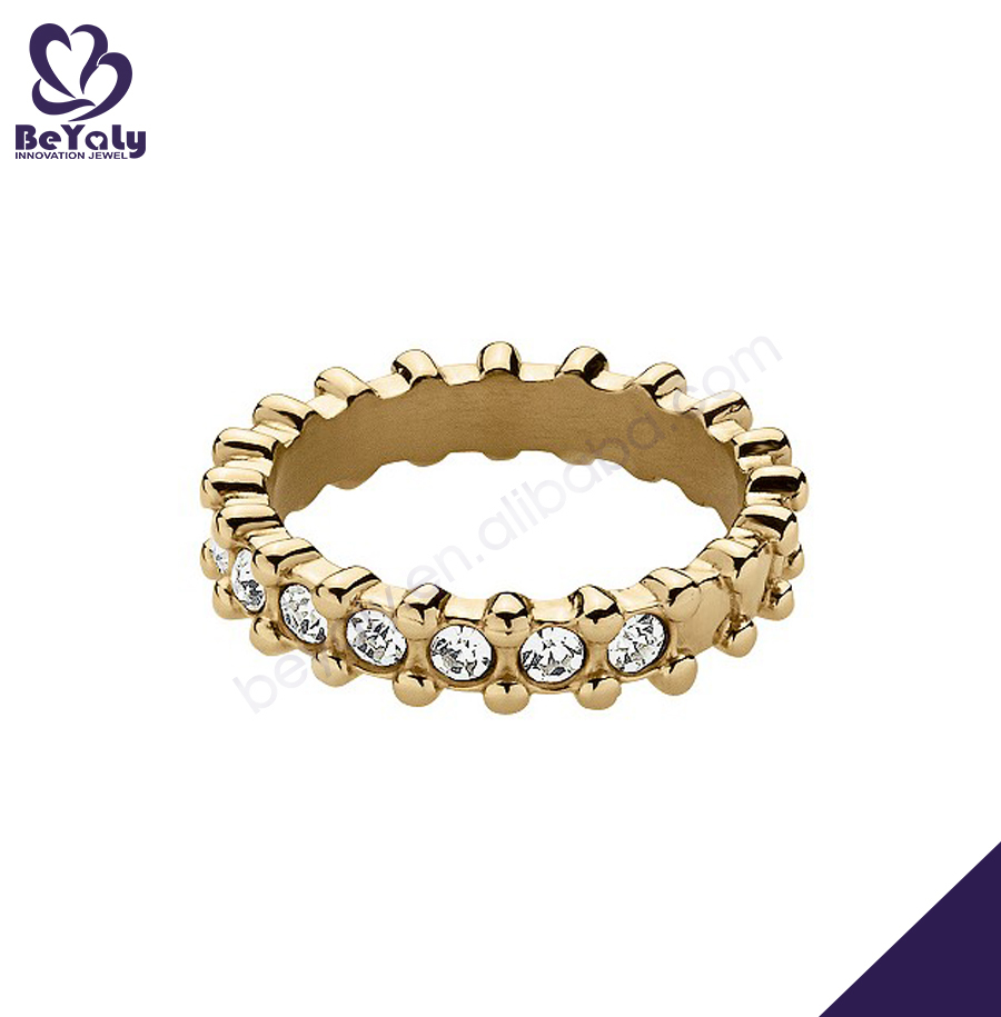 Fashion cz eternity band 14 karat gold jewelry wholesale